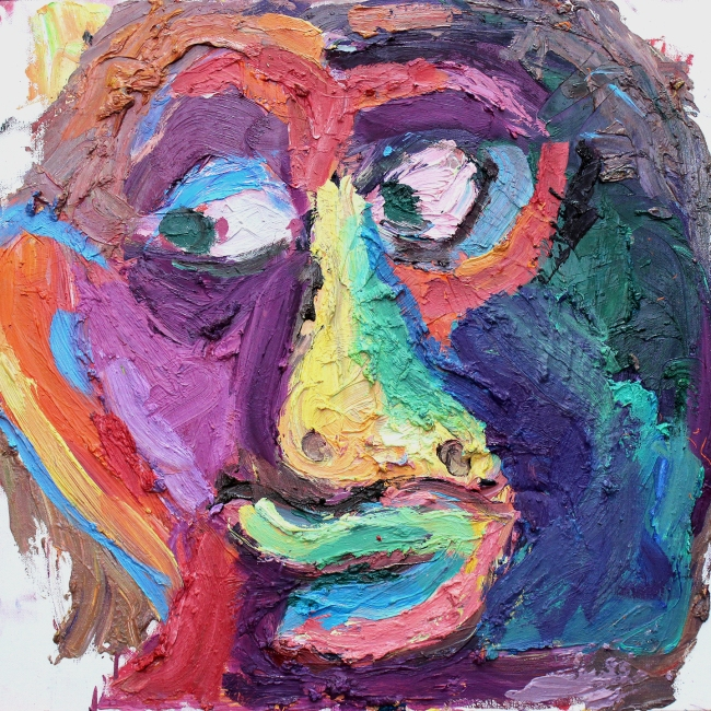 Portrait oil on canvas 18 x 18 inches 2013