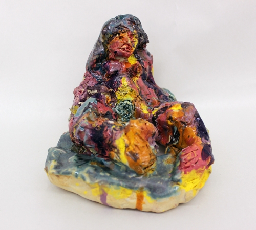 Miriam in the Water glazed white stoneware 5 x 4 inches (dimensions variable) 2014